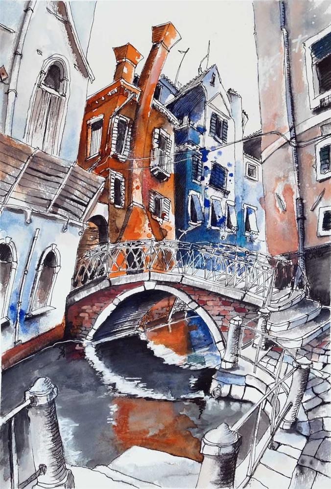 """3177 Venice alive"" original fine art by Dietmar Stiller"
