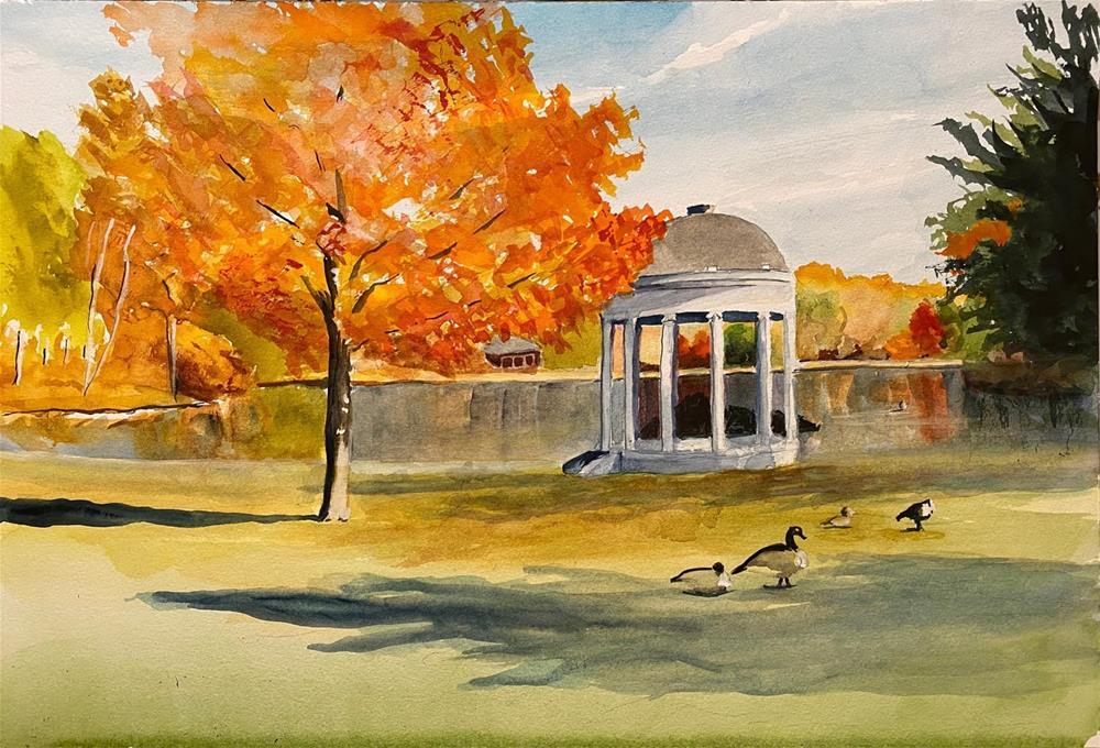 """Autumn Scene"" original fine art by Bunny Griffeth"