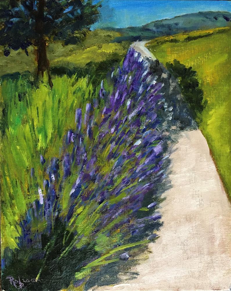 """Lavender Road"" original fine art by Renee Robison"