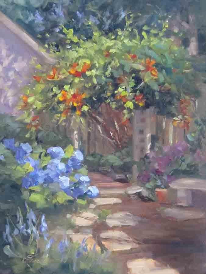 """""""My Happy Place"""" original fine art by Pat Fiorello"""