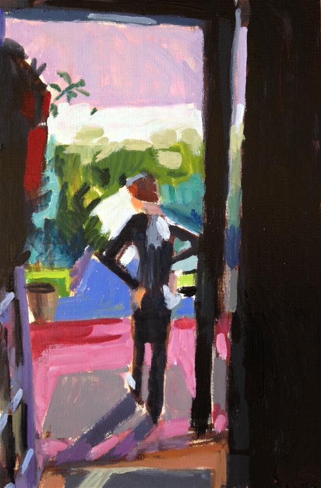 """Surveying His Kingdom (aka Grandma's House)"" original fine art by Pamela Hoffmeister"