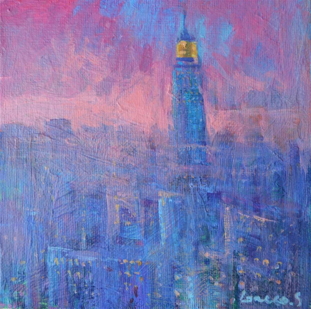 """New York the morning"" original fine art by salvatore greco"