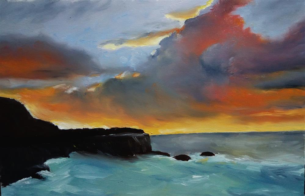 """Sunset"" original fine art by Laura B."