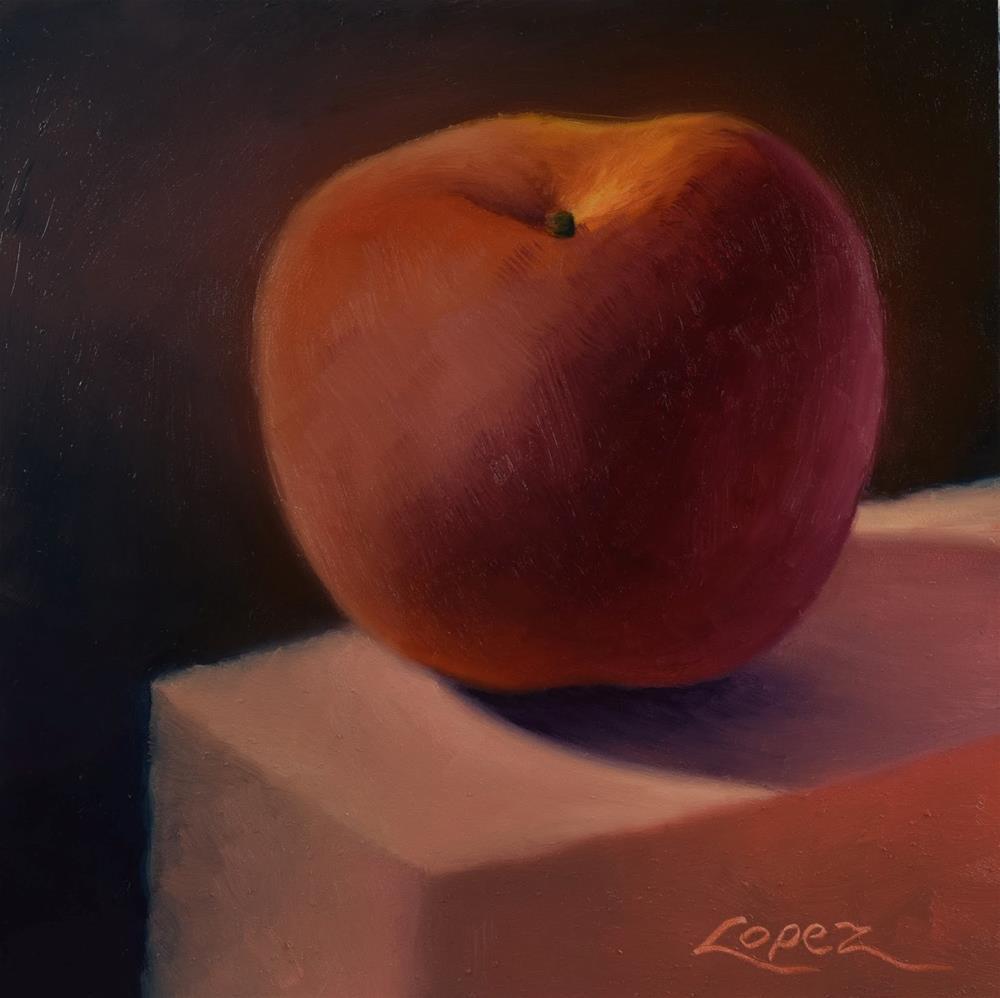 """""""15. Peach Radiance"""" original fine art by Gema Lopez"""