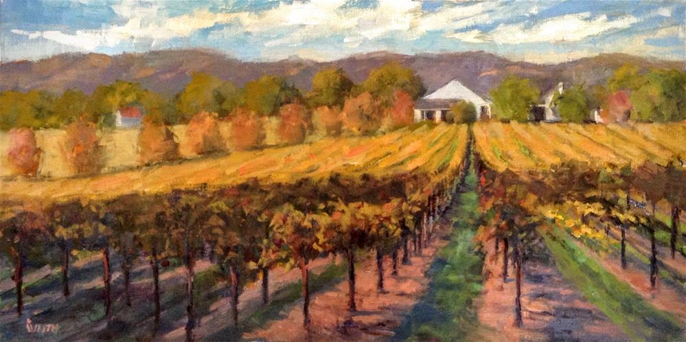 """Fall Vineyard Panorama"" original fine art by Barbie Smith"