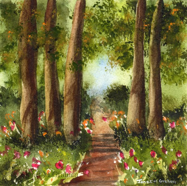 """Forest Path"" original fine art by Janet Graham"