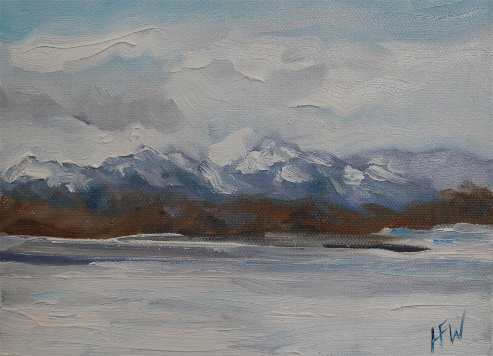 """Snowy Front Range"" original fine art by H.F. Wallen"