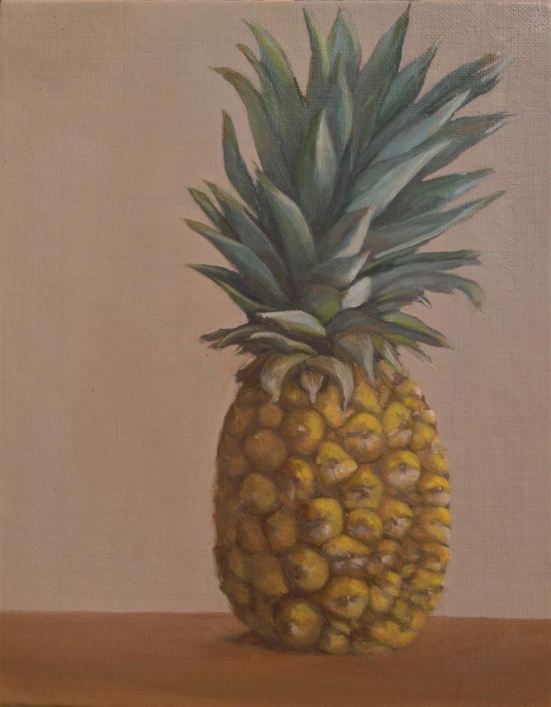 """""""Pineapple 1"""" original fine art by Karen Stitt"""
