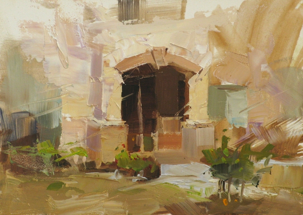 """Neighbor's House"" original fine art by Qiang Huang"