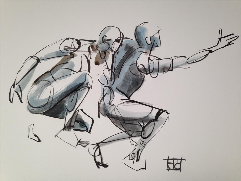 """man reaching"" original fine art by Arron McGuire"