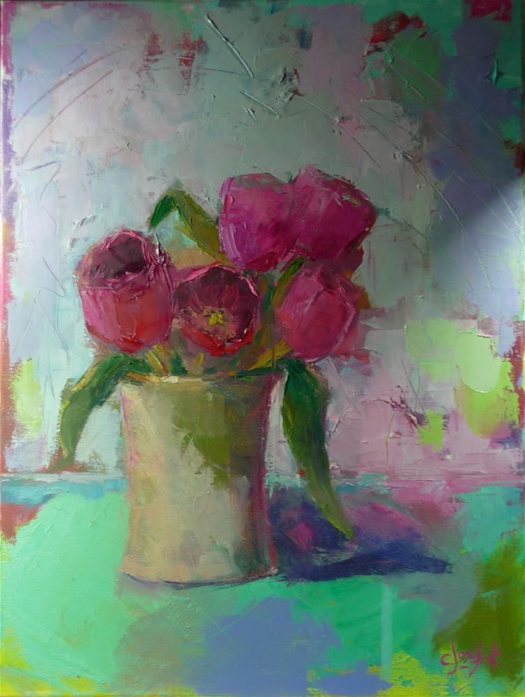 """Burst of Spring"" original fine art by Carol Josefiak"