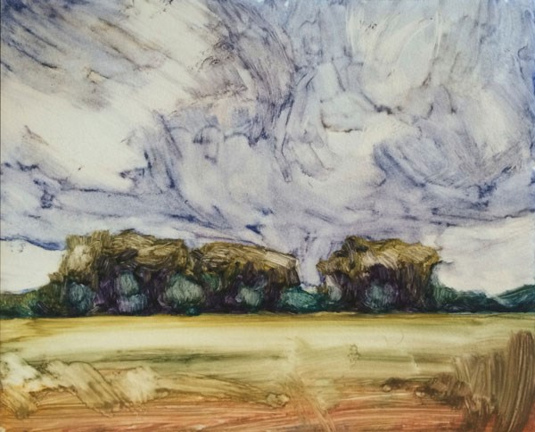 """""""Storm Over the Grove, IV"""" original fine art by Mary Gilkerson"""