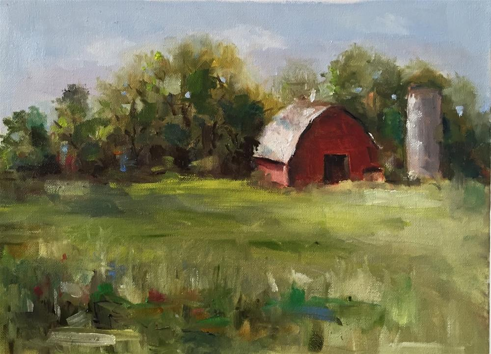 """""""The Old Red  Barn"""" original fine art by Marcia Hodges"""
