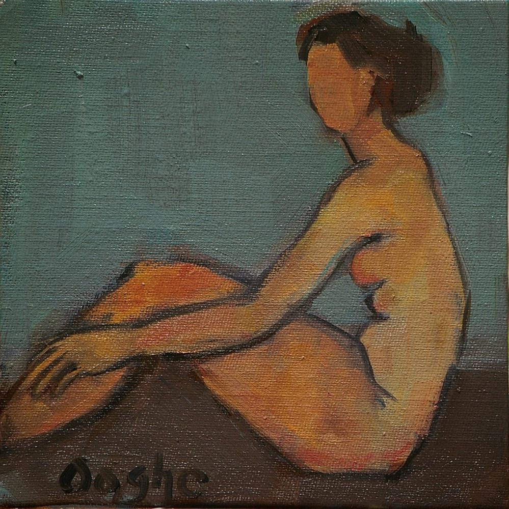 """""""Seated Nude 2"""" original fine art by Angela Ooghe"""