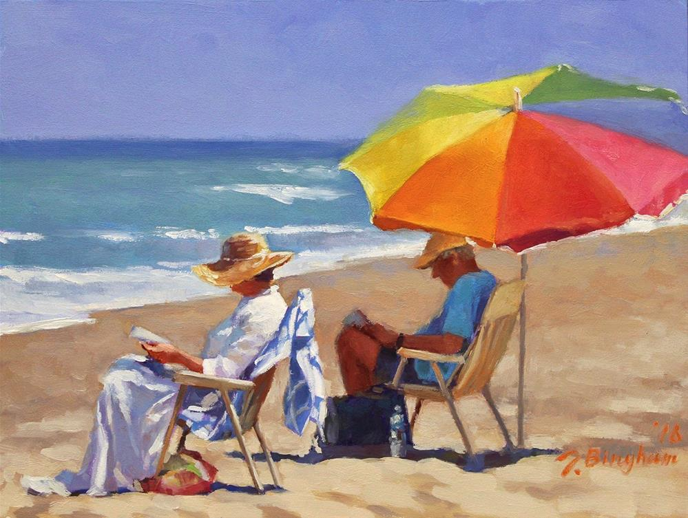"""Beach Couple Series-3"" original fine art by Joanna Bingham"