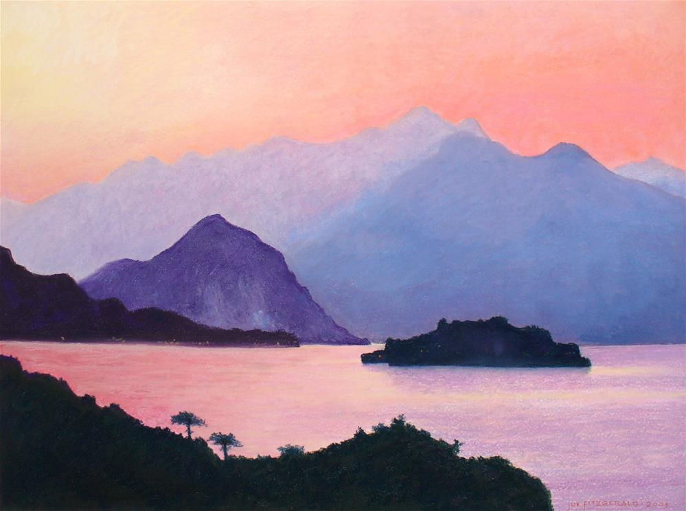 """Isola Bella From Stresa"" original fine art by Joe Fitzgerald"