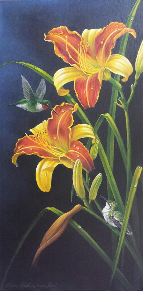 """Sunrises Gift"" original fine art by Elaine Guitar van Loo"