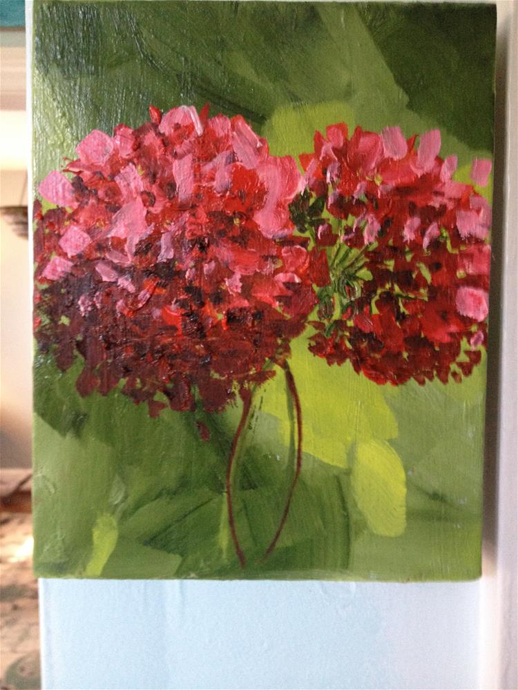 """""""geraniums"""" original fine art by Debra Soffee"""
