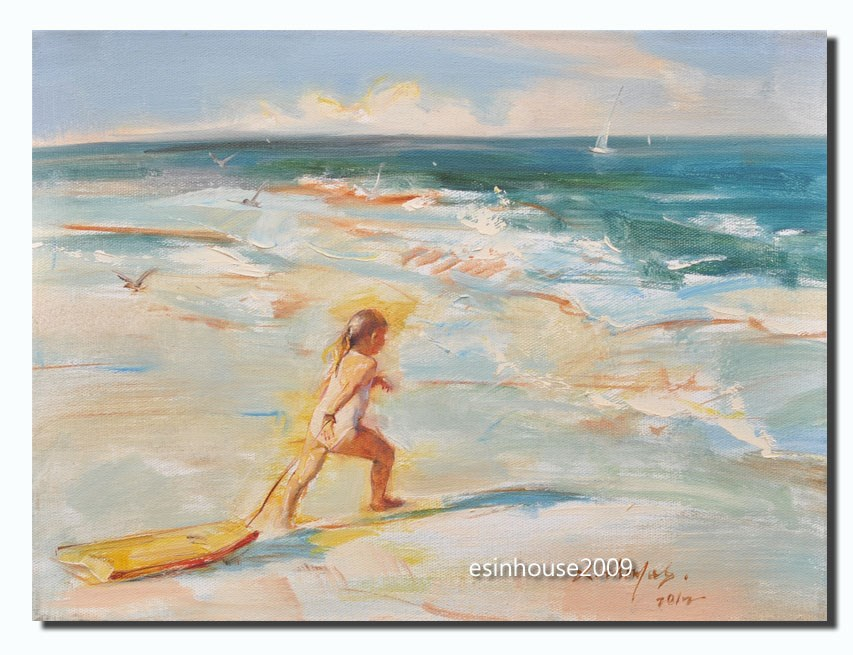 """Surfer"" original fine art by Thomas Xie"