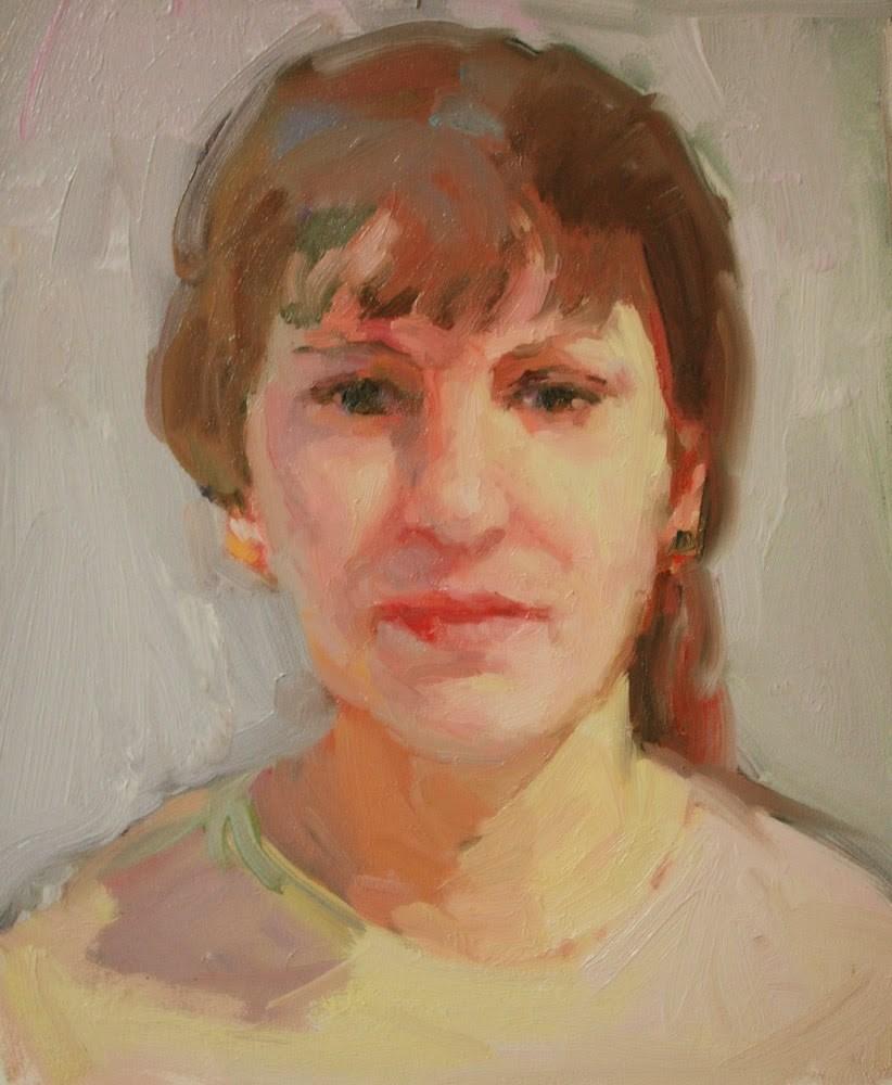 """Portrait in High Key"" original fine art by Kathryn Townsend"
