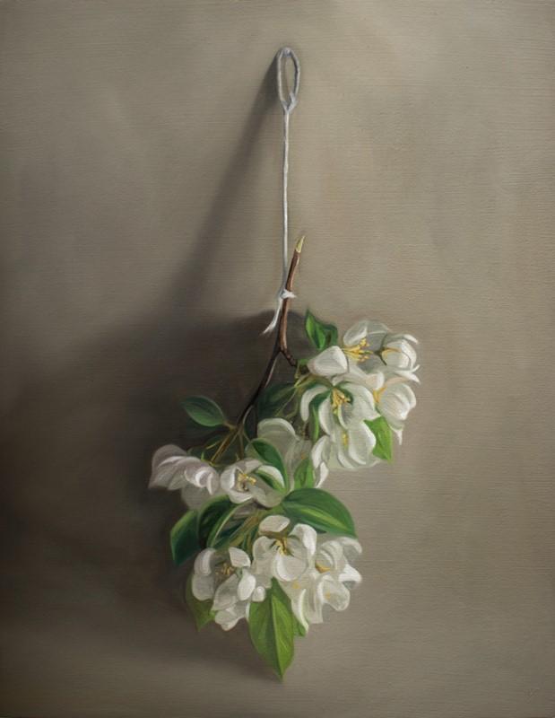 """Hanging Crabapple Blossoms"" original fine art by Lauren Pretorius"