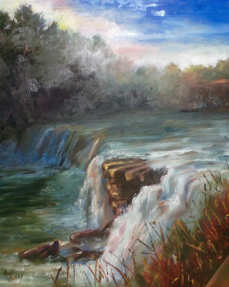 """Little River Falls"" original fine art by Nan Perry"