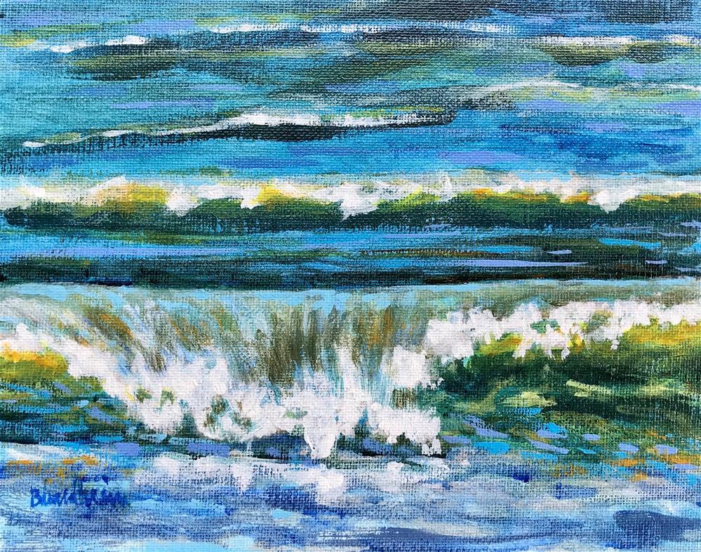"""Sale Painting Waves"" original fine art by Linda Blondheim"