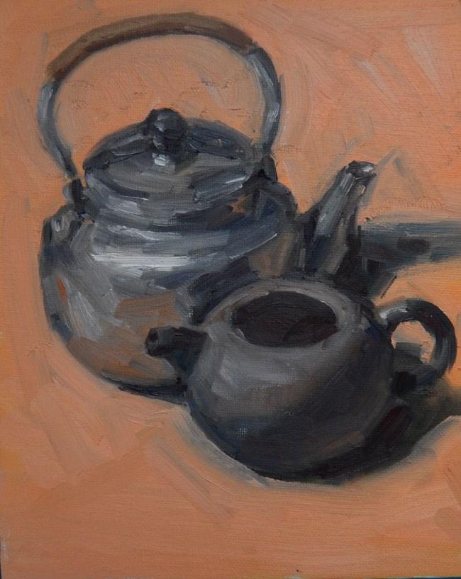 """""""Pots on Pink"""" original fine art by Megan Schembre"""