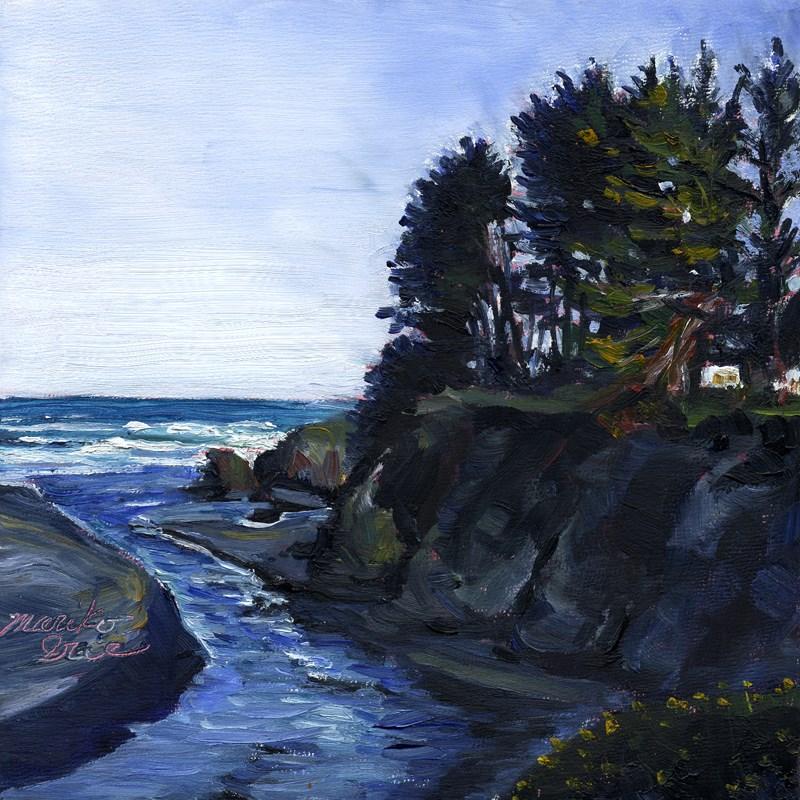 """The River meets the Ocean"" original fine art by Mariko Irie"