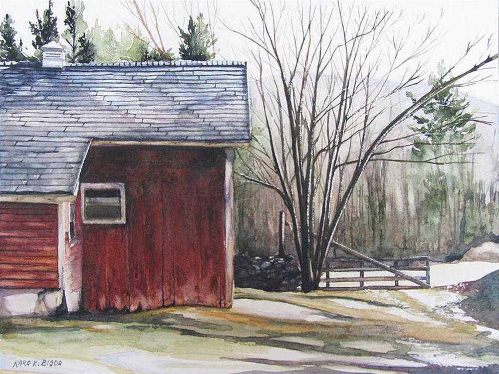 """A Mild Winter"" original fine art by Kara K. Bigda"