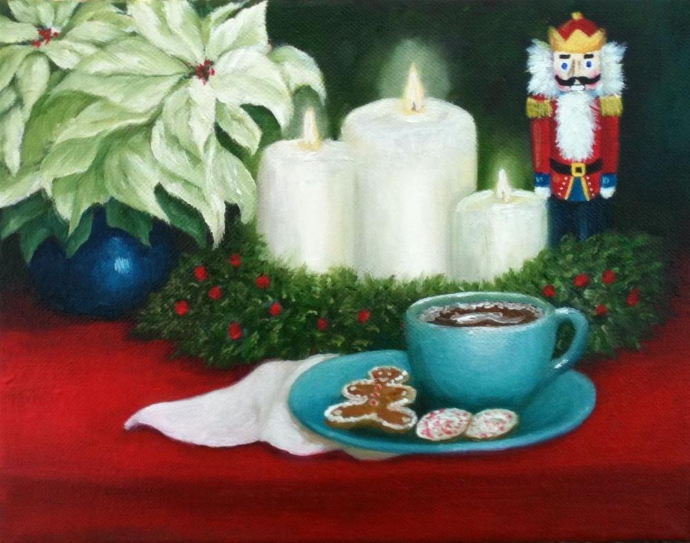 """Christmas Montage"" original fine art by Elizabeth Elgin"