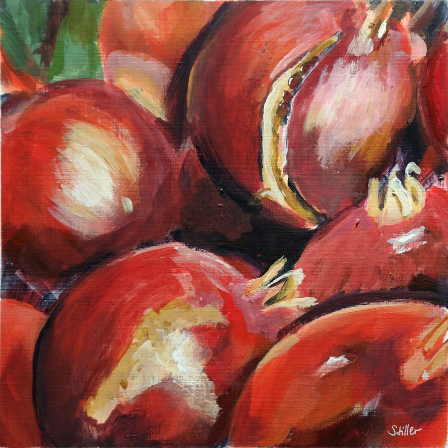 """2747 Pomegranates"" original fine art by Dietmar Stiller"