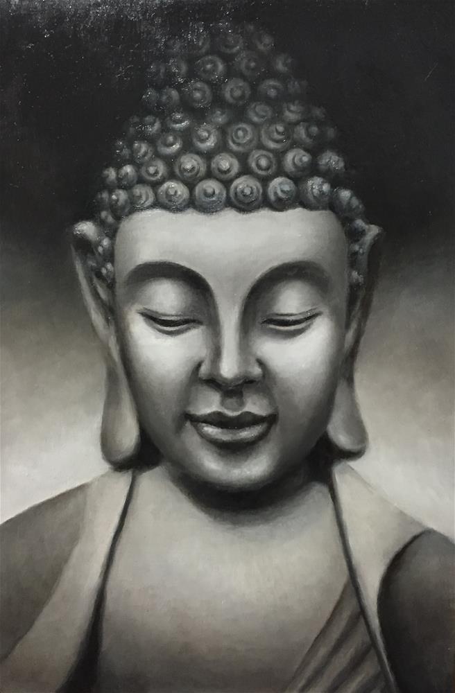"""Buddha"" original fine art by Cheryl Meehan"