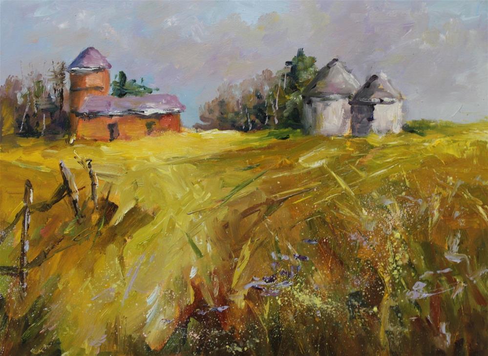 """Original oil landscape rural country painting"" original fine art by Alice Harpel"