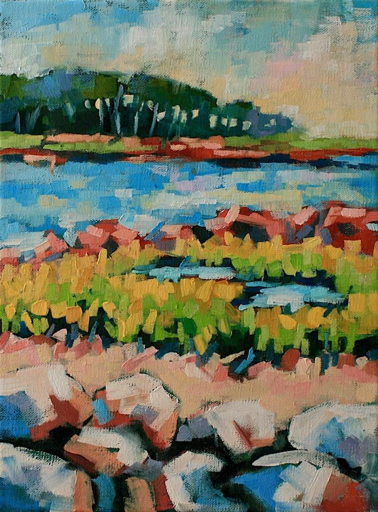 """""""Down by the Bay"""" original fine art by Mary Anne Cary"""