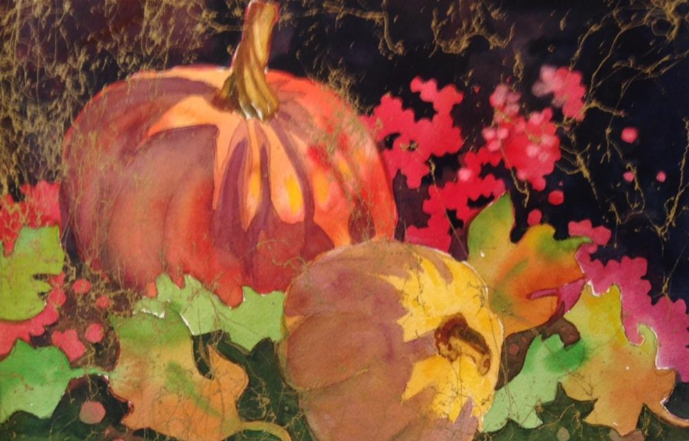 """Pumpkin 2"" original fine art by Margie Whittington"