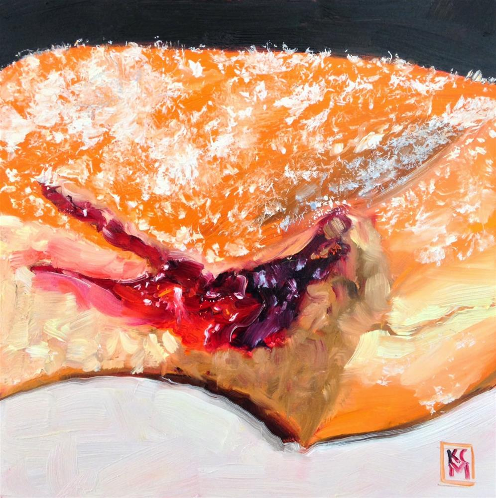 """""""Long Time Gone... and Big Bite, 6x6 oil painting by Kelley MacDonald"""" original fine art by Kelley MacDonald"""