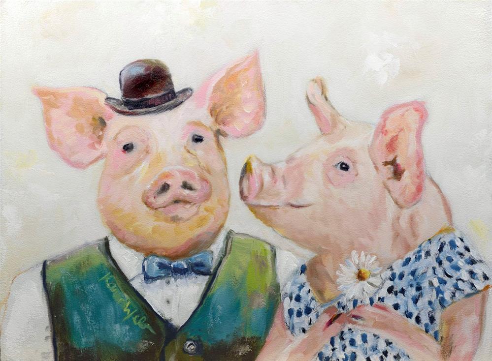 """A Smile is the Beginning of Love"" original fine art by Karen Weber"