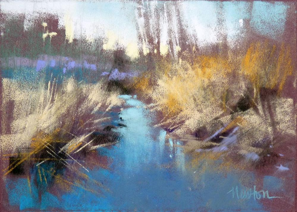 """Rock Creek Winter Series: #3"" original fine art by Barbara Benedetti Newton"