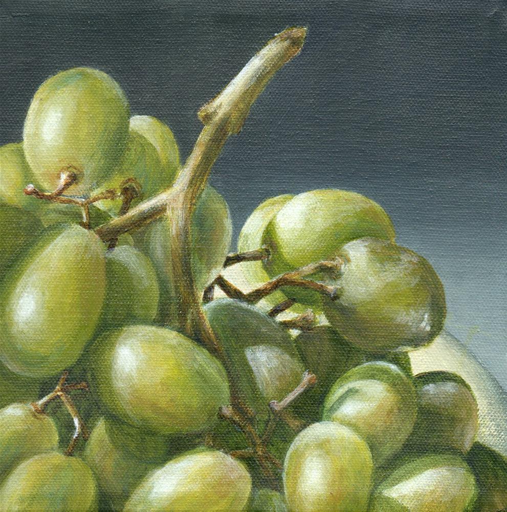 """Being Green"" original fine art by Debbie Shirley"