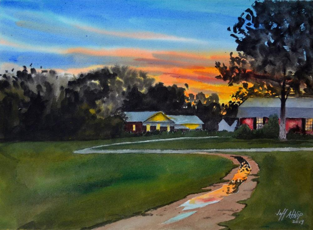 """Suburban Sunset"" original fine art by Jeff Atnip"