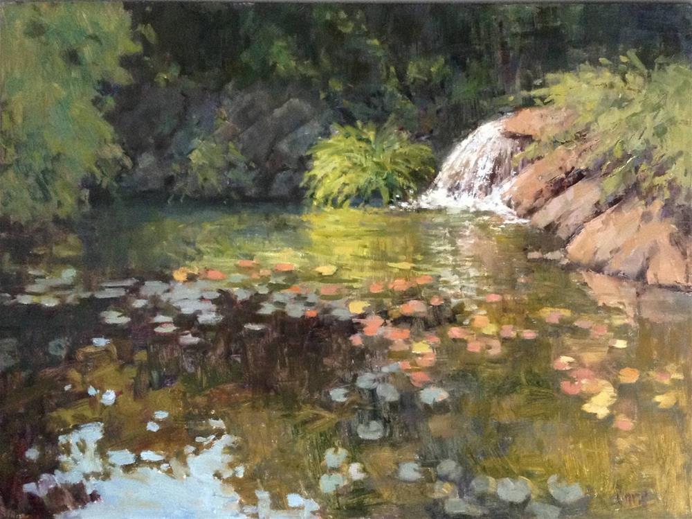 """Dappled Pond"" original fine art by Barbie Smith"