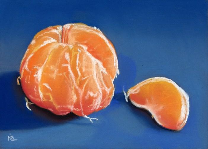 """Orange Segment"" original fine art by Ria Hills"