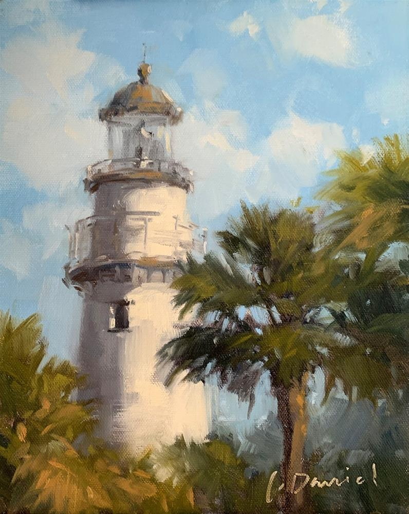"""The Lighthouse"" original fine art by Laurel Daniel"