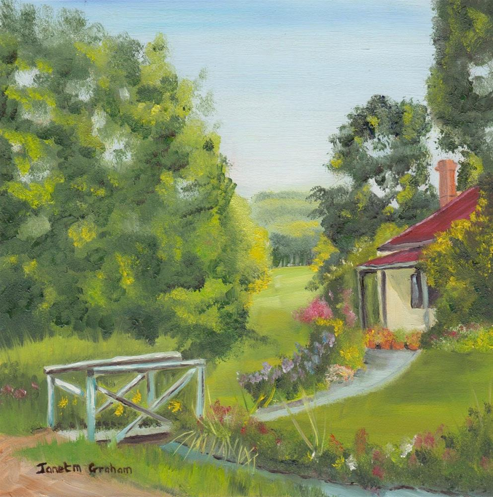 """Country Cottage"" original fine art by Janet Graham"