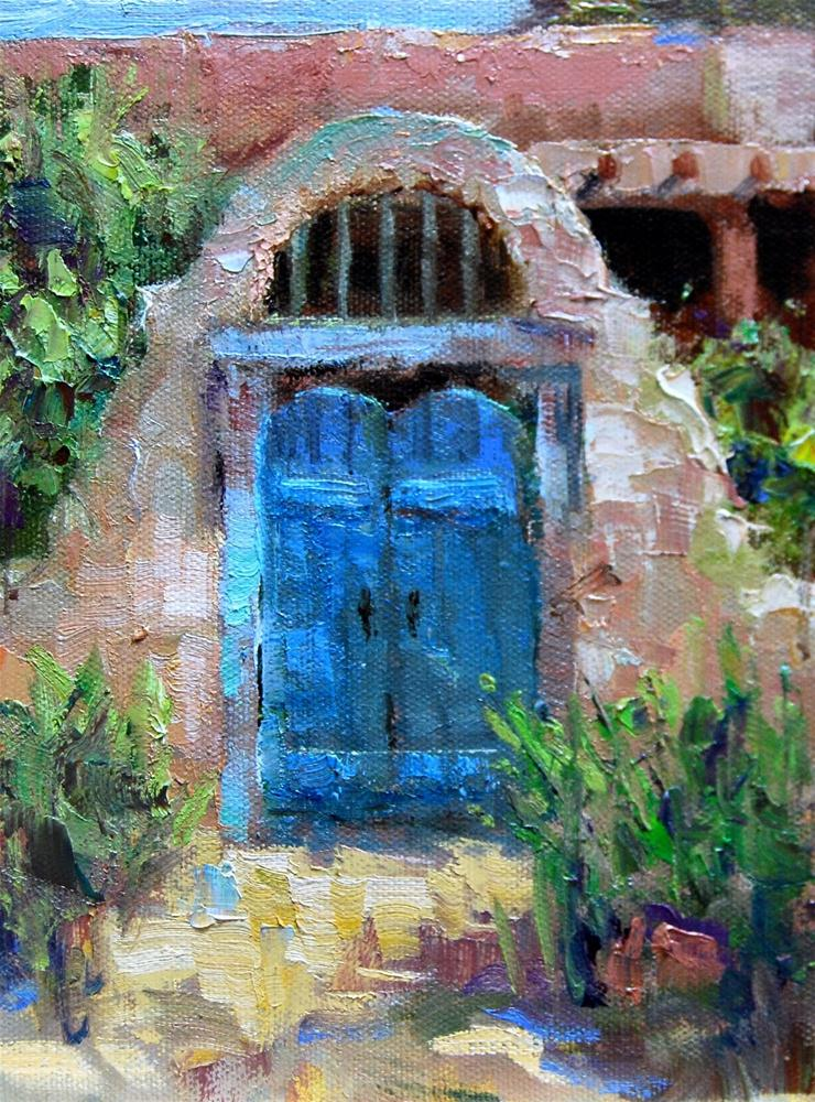 """""""New Mexico Gate"""" original fine art by Julie Ford Oliver"""
