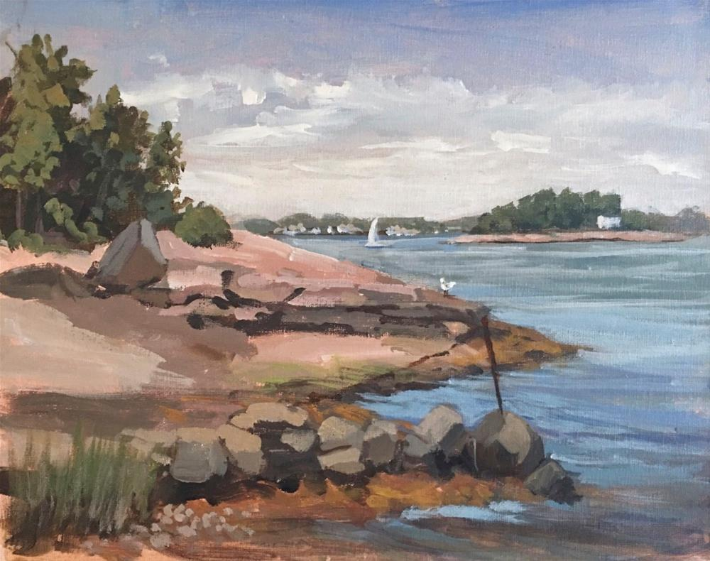 """Island Time, Thimble Islands, Branford, CT"" original fine art by Linda Marino"