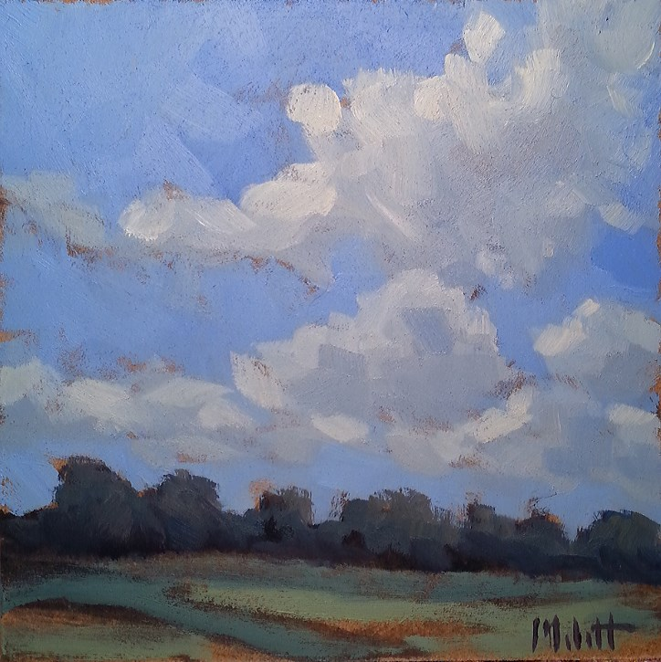 """June Skies Contemporary Impressionism Original Landscape"" original fine art by Heidi Malott"