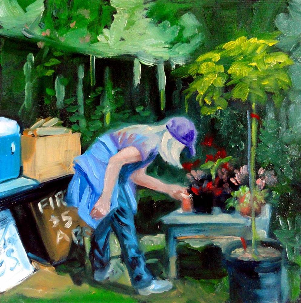 """""""Roadside Flower Sale"""" original fine art by Cietha Wilson"""