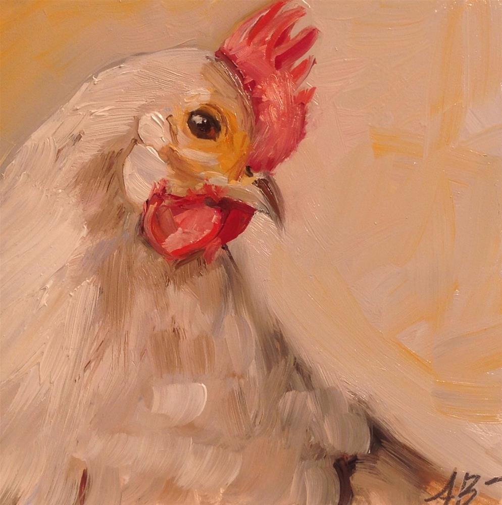 """""""Spring Chicken"""" original fine art by Annette Balesteri"""